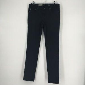 AG Jeans Skinny Stilt Cigarette Leg Solid Black